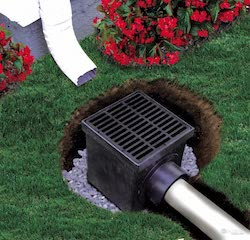 lawn drainage system for bubbles in yard