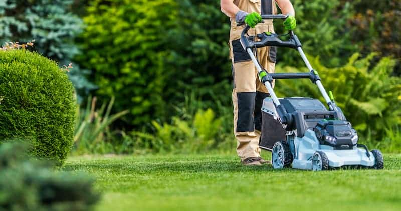 best battery powered mower for small yard